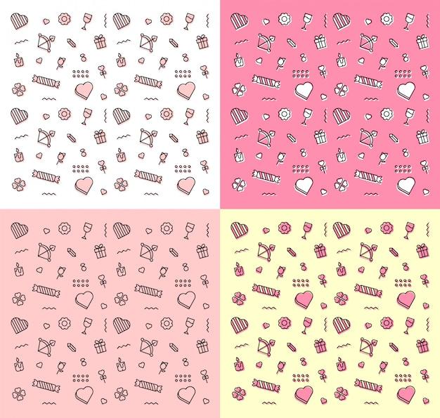 Zestaw wzorów miłości