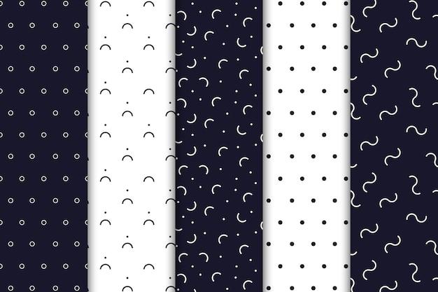 Zestaw wzorów w minimalistycznym stylu
