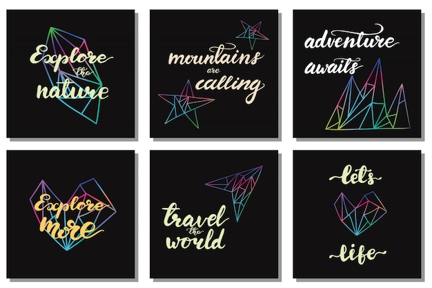 Zestaw wzorów z zwrotów liter podróży. ilustracji wektorowych.