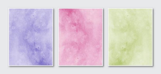 Zestaw z kreatywnym minimalistycznym abstrakcyjnym tle akwarela