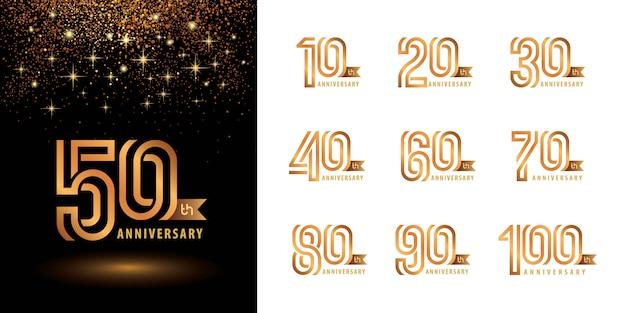 Zestaw z logotypem anniversary, celebrate anniversary logo