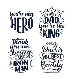 Zestaw z napisem na kartkę z życzeniami na dzień ojca