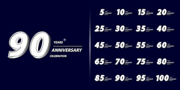 Zestaw z okazji rocznicy premium.