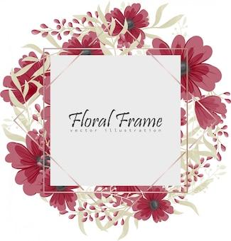 Zestaw z przodu iz tyłu wizytówki z kwiatami