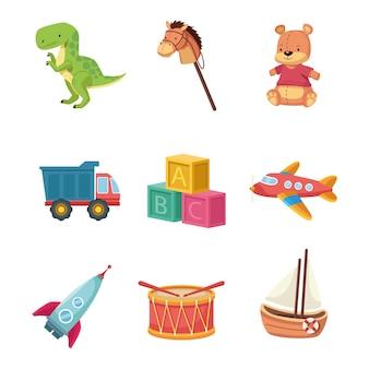 Zestaw zabawek dla dzieci