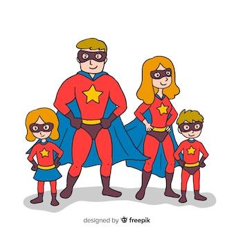 Zestaw zabawnych superbohaterów