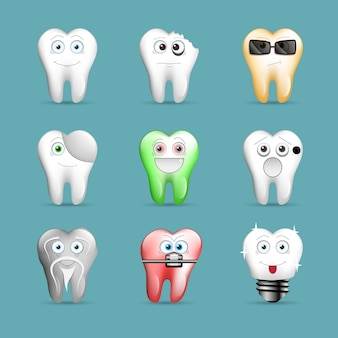 Zestaw zabawnych zębów