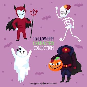 Zestaw zabawnych znaków halloween