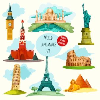 Zestaw zabytków świata