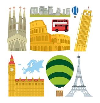Zestaw zabytków europy