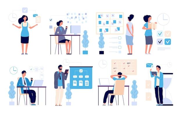 Zestaw zadań ludzi biznesu zarządzających