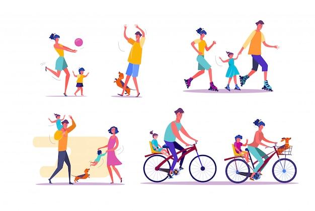 Zestaw zajęć na świeżym powietrzu dla rodzin