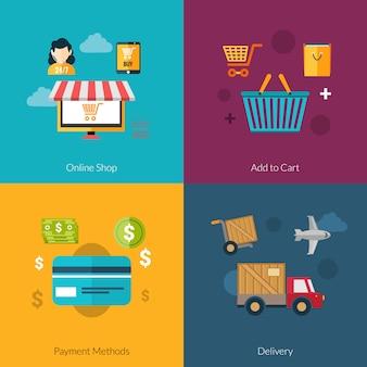 Zestaw zakupów online