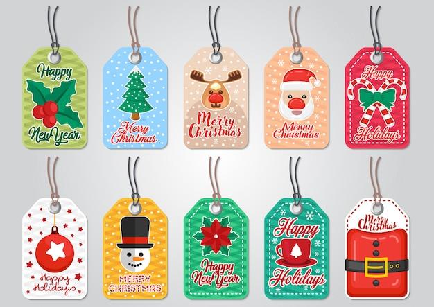 Zestaw zapasów świątecznej sprzedaży z elementami świątecznymi.
