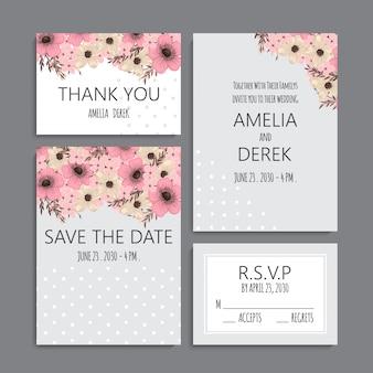 Zestaw zaproszenia ślubne