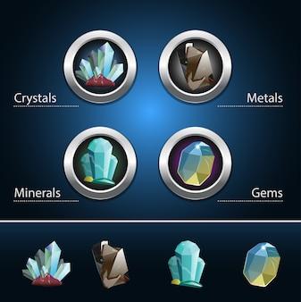 Zestaw zasobów minerałów