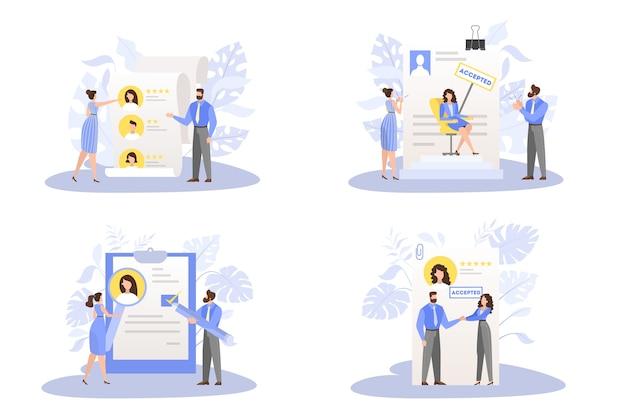 Zestaw zatwierdzonych dokumentów aplikacyjnych. idea zatrudnienia