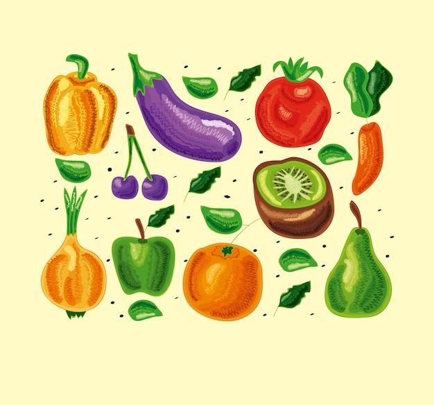 Zestaw zdrowej żywności