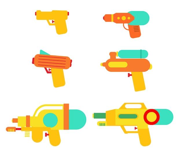 Zestaw zestawów pistoletów wodnych