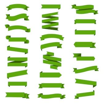 Zestaw zielonej wstążki