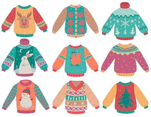 Zestaw zimowych swetrów izoluje