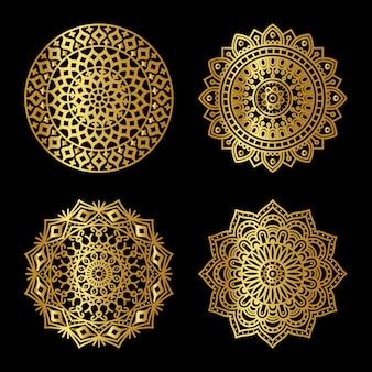 Zestaw złotej mandali