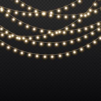 Zestaw złotej świątecznej świecącej girlandy led neonowa lampa sylwestrowa dekoracja świątecznych lampek