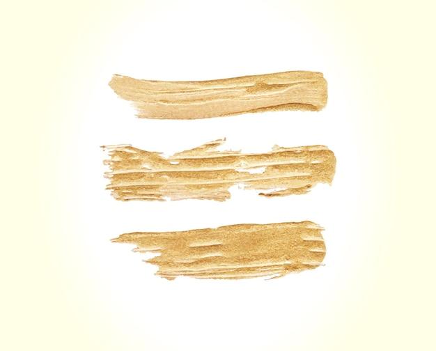 Zestaw złoty obrys pędzla