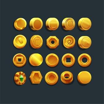 Zestaw złotych monet