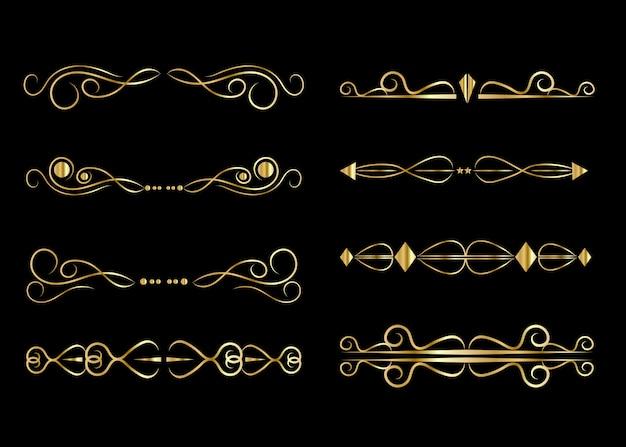 Zestaw złotych ramek