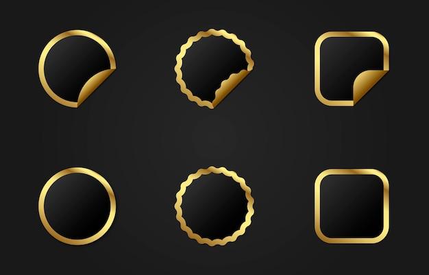 Zestaw złotych wstążek rabaty z cenami