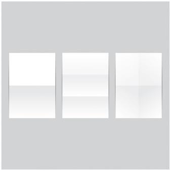 Zestaw zmięte złożone kawałki papieru. realistyczna ilustracja