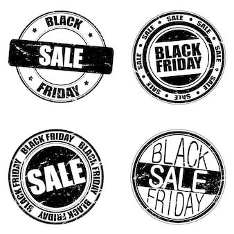 Zestaw znaczków czarny piątek.