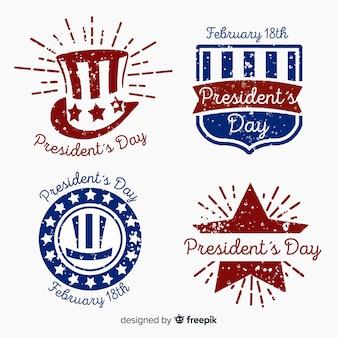 Zestaw znaczków dzień prezydent