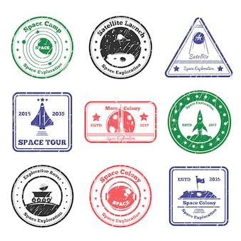 Zestaw znaczków space tour