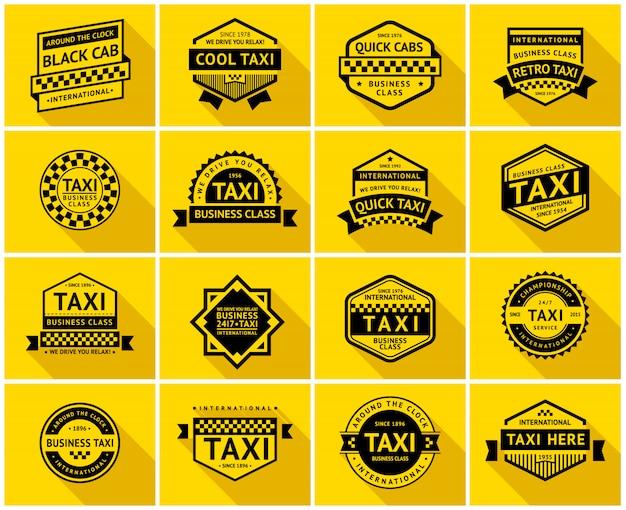 Zestaw znaczków taksówek