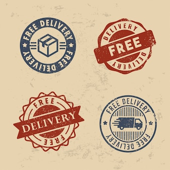 Zestaw znaczków z darmową dostawą