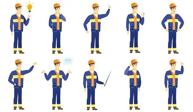 Zestaw znaków budowniczych.