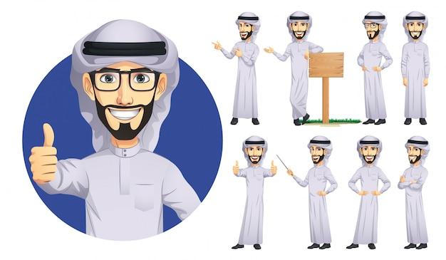 Zestaw znaków człowieka arabskiego