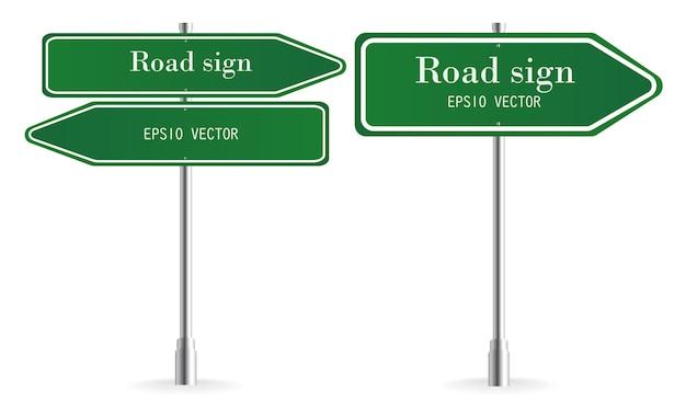 Zestaw znaków drogowych way way
