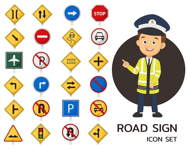 Zestaw znaków drogowych