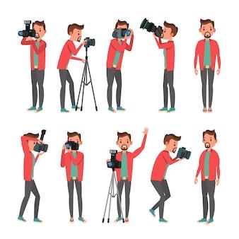 Zestaw znaków fotografa