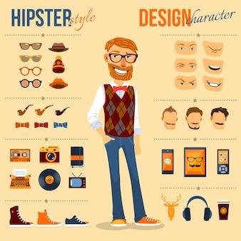 Zestaw znaków hipster
