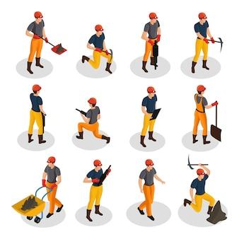Zestaw znaków izometrycznego górnictwa