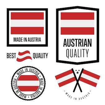 Zestaw znaków jakości austrii