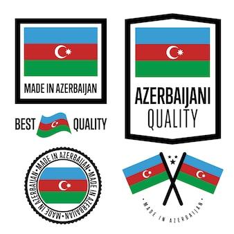 Zestaw znaków jakości azerbejdżanu