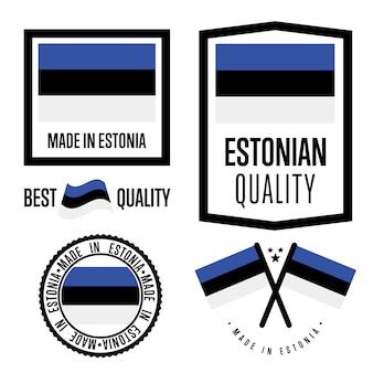 Zestaw znaków jakości estonii