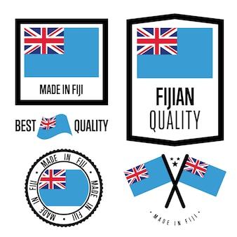 Zestaw znaków jakości fidżi