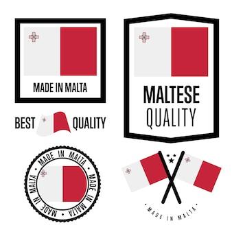 Zestaw znaków jakości malta