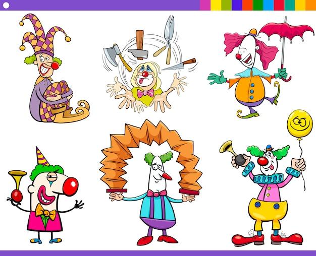 Zestaw znaków klauna cyrku
